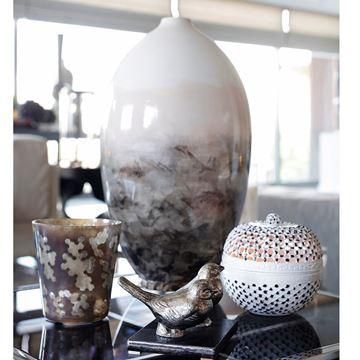 Resim Seramik Kuş Detaylı Vazo