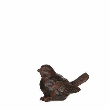 Resim Dekoratif Kuş Kahve H:7 cm