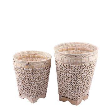 Resim Bambu Sepet H:43,5 cm