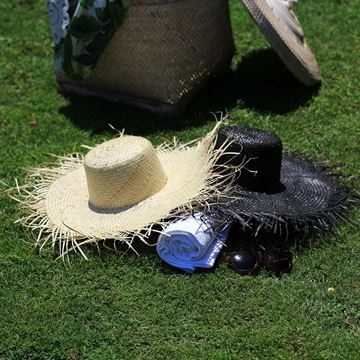 Resim Hasır Şapka Siyah