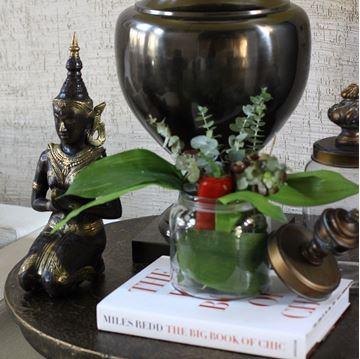 Resim Buda Heykeli Siyah-Gold