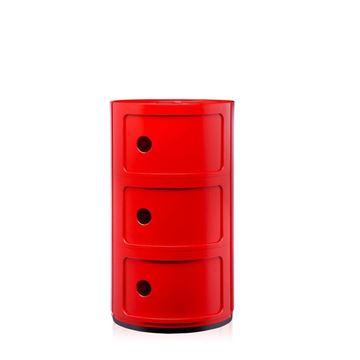 Resim Componibili 3 Çekmeceli Modül Kırmızı