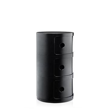 Resim Componibili 3 Çekmeceli Modül Siyah