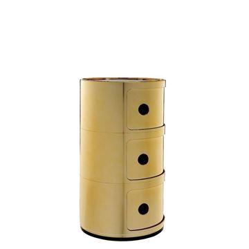 Resim Componibili 3 Çekmeceli Modül Gold