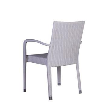 Resim Salsa Kollu Sandalye Beyaz
