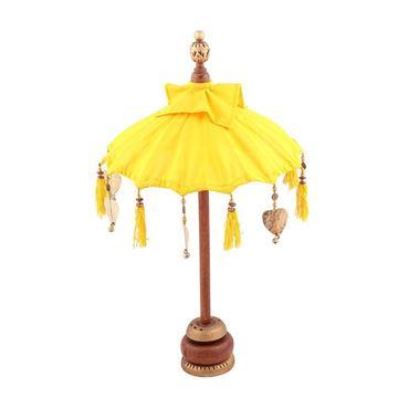Resim Mini Dekoratif Şemsiye Sarı 68 cm