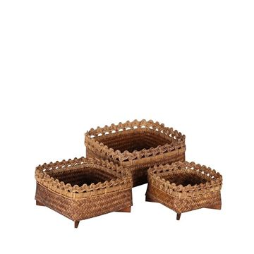 Resim Bambu Sepet H:15 cm