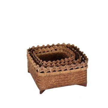 Resim Bambu Sepet H:12 cm