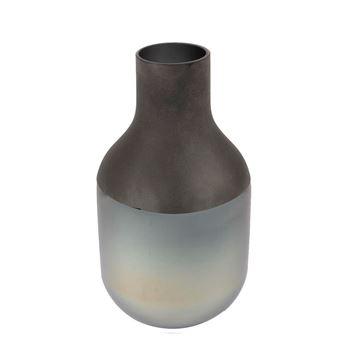 Resim Gri Cam Vazo 18x18x33 cm