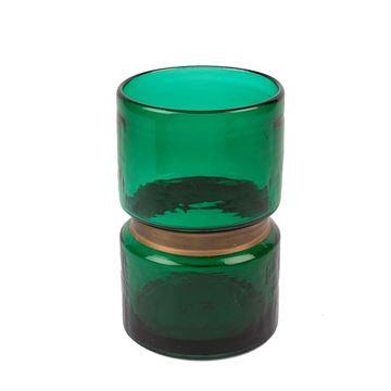 Resim Yeşil Cam Vazo 15x15x24 cm