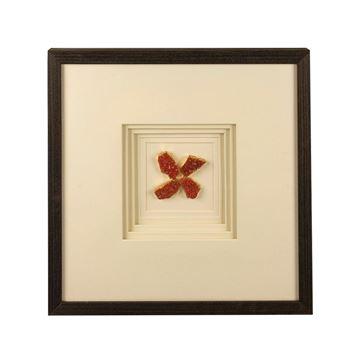 Resim Turuncu Doğal Taşlı Tablo 46x46 cm