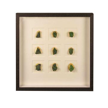 Resim Yeşil Doğal Taşlı Tablo 51x51 cm