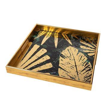 Resim Gold Kare Tepsi 40 cm