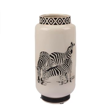 Resim Zebra Seramik Vazo16x31 cm