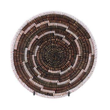 Resim Hasır Duvar Sepeti Kaleı Siyah/Beyaz Çizgili Q:32 cm