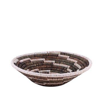 hasir-duvar-sepeti-kalei-siyahbeyaz-cizgili-q32-cm