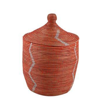 hasir-sepet-zigzag-kapakli-turuncubeyaz-cizgi-q44-cm