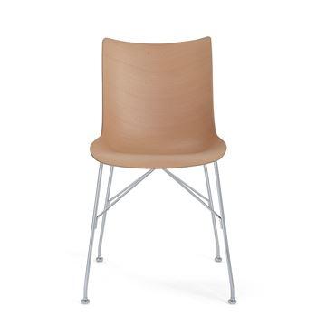 Resim P/Wood Sandalye Açık Kahve/Krom