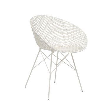 Resim Smatrık Sandalye Beyaz/Beyaz