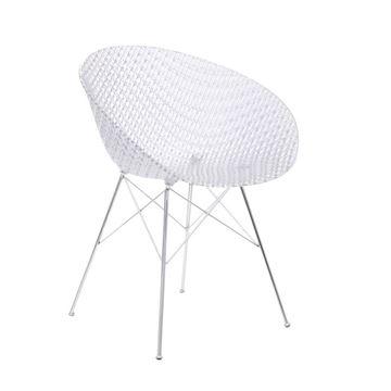 Resim Smatrık Sandalye Şeffaf/Krom