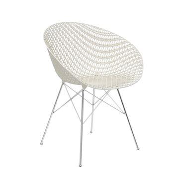 Resim Smatrık Sandalye Beyaz/Krom