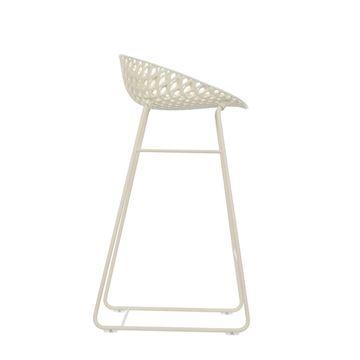 Resim Smatrik Bar Sandalyesi Beyaz/Beyaz
