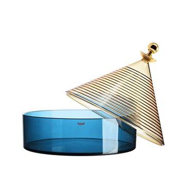 Resim Trullo Kapaklı Kutu Sarı/Mavi