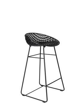 Resim Smatrik Bar Sandalyesi Dış Mekan Siyah/Siyah