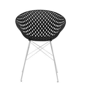 Resim Smatrık Sandalye Siyah/Krom