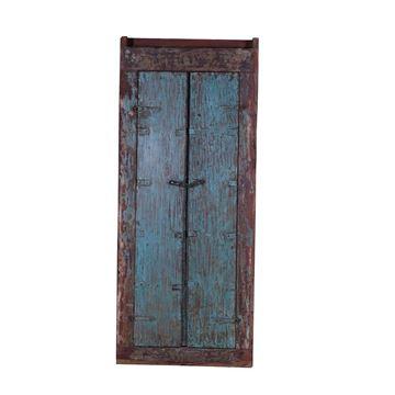 Resim Dekor Antik Kapı Mavi