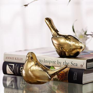Resim Seramik Kuş Dekoratif Obje Yukarı Bakan