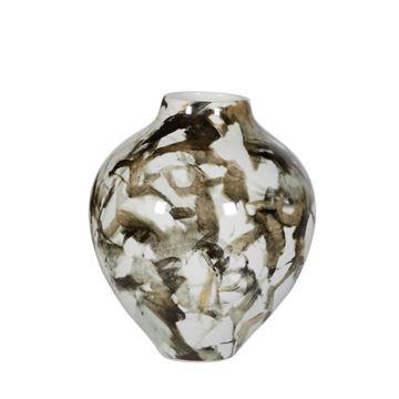 Resim Siyah-Beyaz Vazo H:24,5 cm