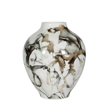 Resim Siyah-Beyaz Vazo H:36 cm