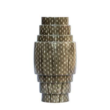Resim Vazo Kahve H: 30 cm