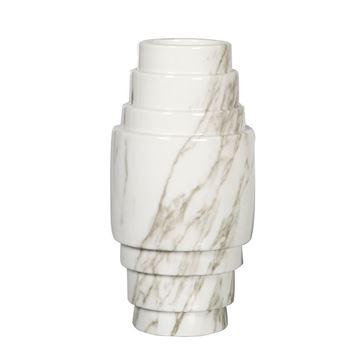 Resim Vazo Gri-Beyaz H:30 cm