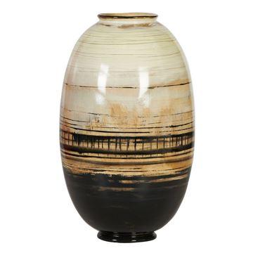Resim Vazo Beyaz-Kahve-Siyah H:47 cm