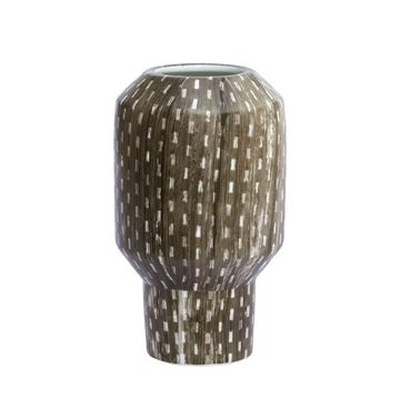 Resim Vazo Kahverengi Desenli H:20.5 cm