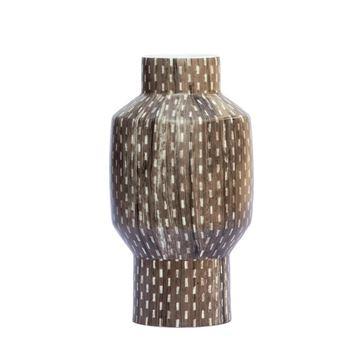Resim Vazo Kahverengi Desenli H:27 cm
