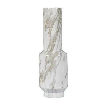 Resim Vazo Gri-Beyaz  H:47.5 cm