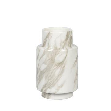 Resim Vazo Gri-Beyaz H:19 cm