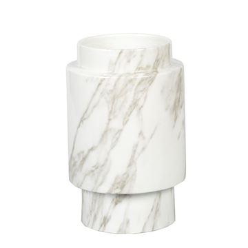 Resim Vazo Gri-Beyaz H:25 cm