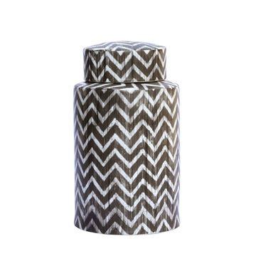 Resim Vazo Gri-Beyaz H:35 cm