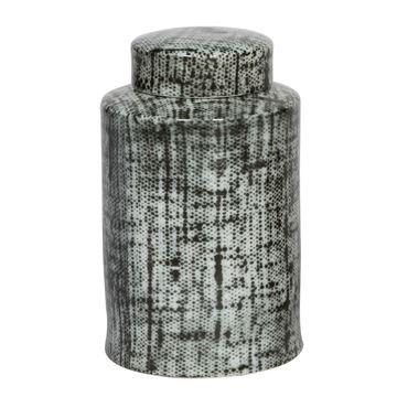 Resim Vazo Gri-Beyaz H:27 cm