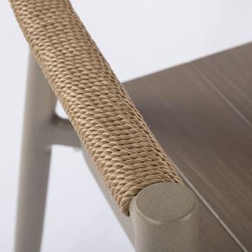 Resim Palmer Kollu Sandalye Gri/Bej
