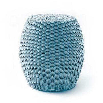 Resim Fıçı Puf Açık Mavi 45x45 cm