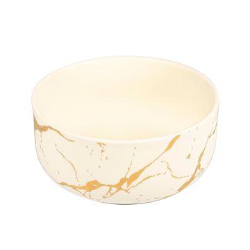Resim Beyaz Gold  Kase 16 cm