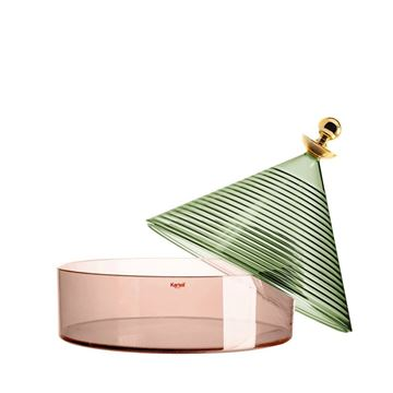 Resim Trullo Kapaklı Şeffaf Kutu Yeşil/Pembe