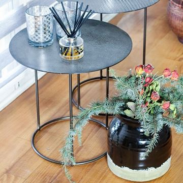 Resim Vazo Siyah H:24 cm