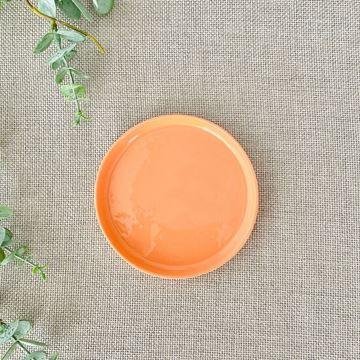 Resim Bumb Yuvarlak Servis Tabak Oranj