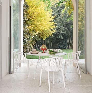 Resim Venice Sandalye Mat Beyaz